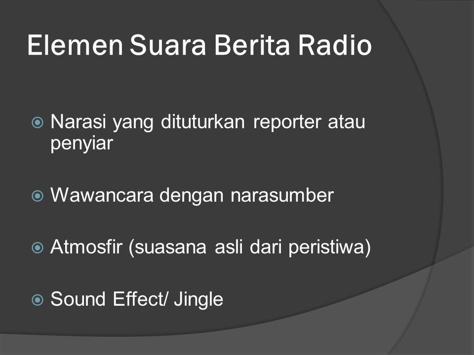 Elemen Suara Berita Radio