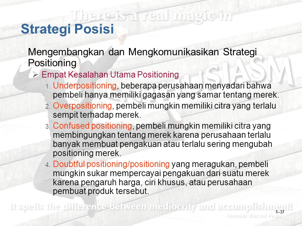 Strategi Posisi Mengembangkan dan Mengkomunikasikan Strategi Positioning. Empat Kesalahan Utama Positioning.