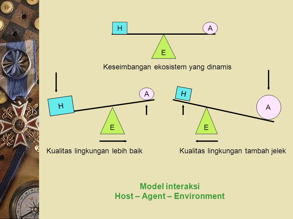 Model interaksi Host – Agent – Environment