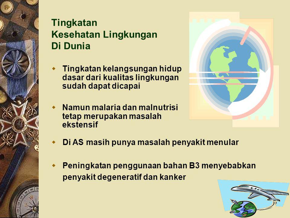 Tingkatan Kesehatan Lingkungan Di Dunia