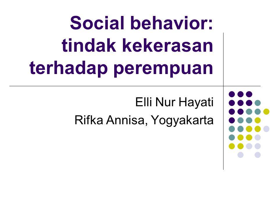 Social behavior: tindak kekerasan terhadap perempuan