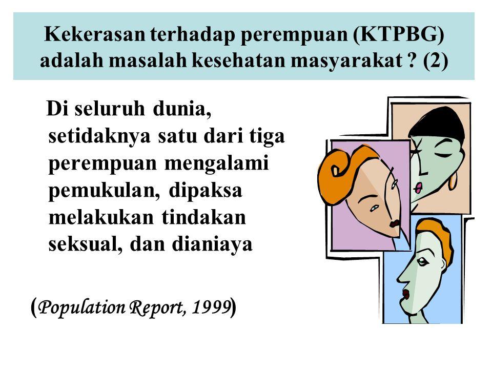 Kekerasan terhadap perempuan (KTPBG) adalah masalah kesehatan masyarakat (2)