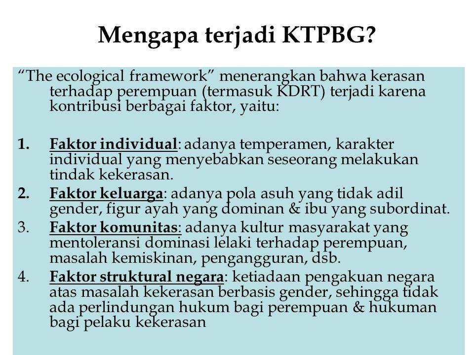 Mengapa terjadi KTPBG