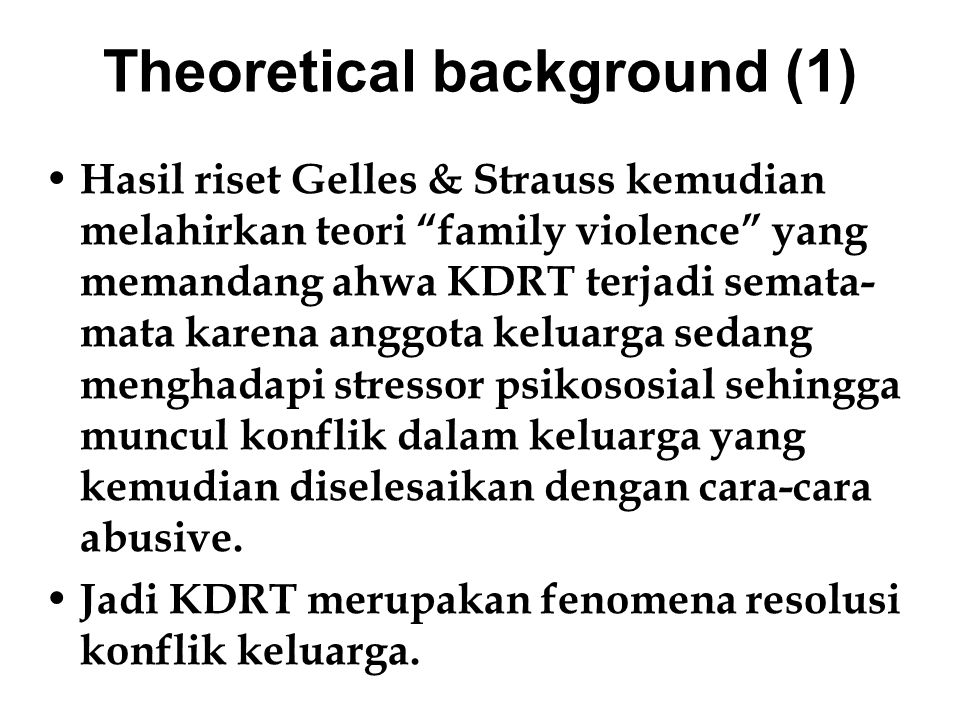 Theoretical background (1)