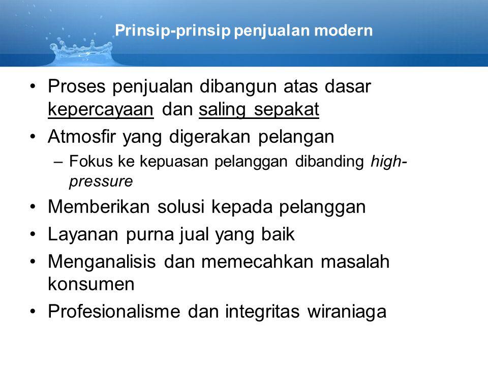 Prinsip-prinsip penjualan modern