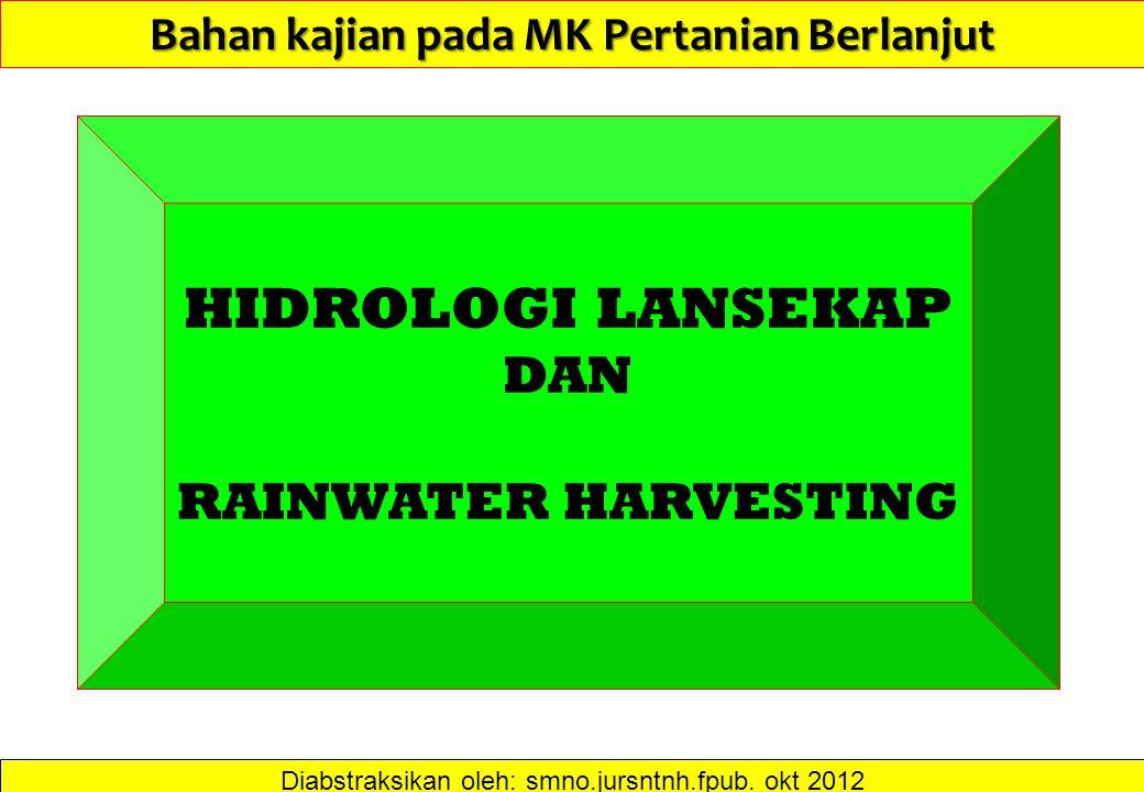 Bahan kajian pada MK Pertanian Berlanjut