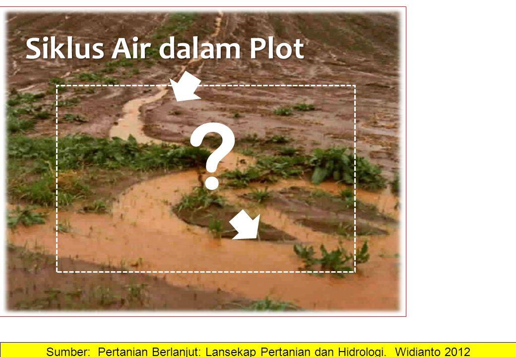 Siklus Air dalam Plot . Sumber: Pertanian Berlanjut: Lansekap Pertanian dan Hidrologi.