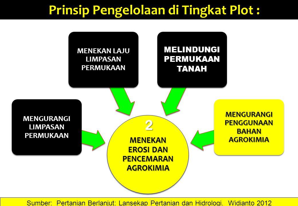 Prinsip Pengelolaan di Tingkat Plot :