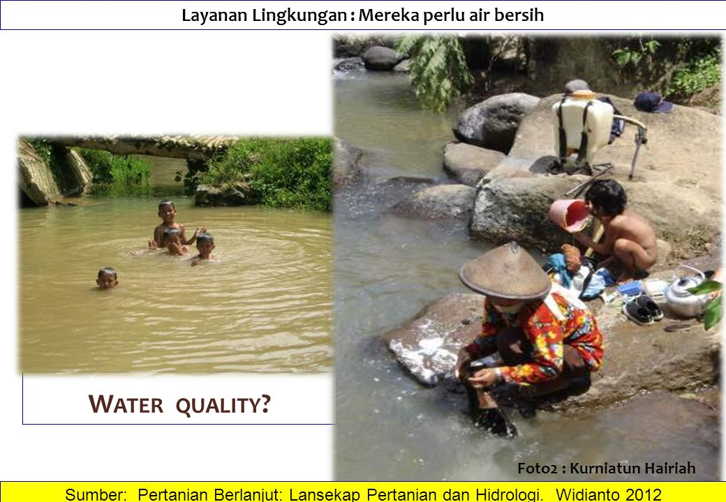 Layanan Lingkungan : Mereka perlu air bersih