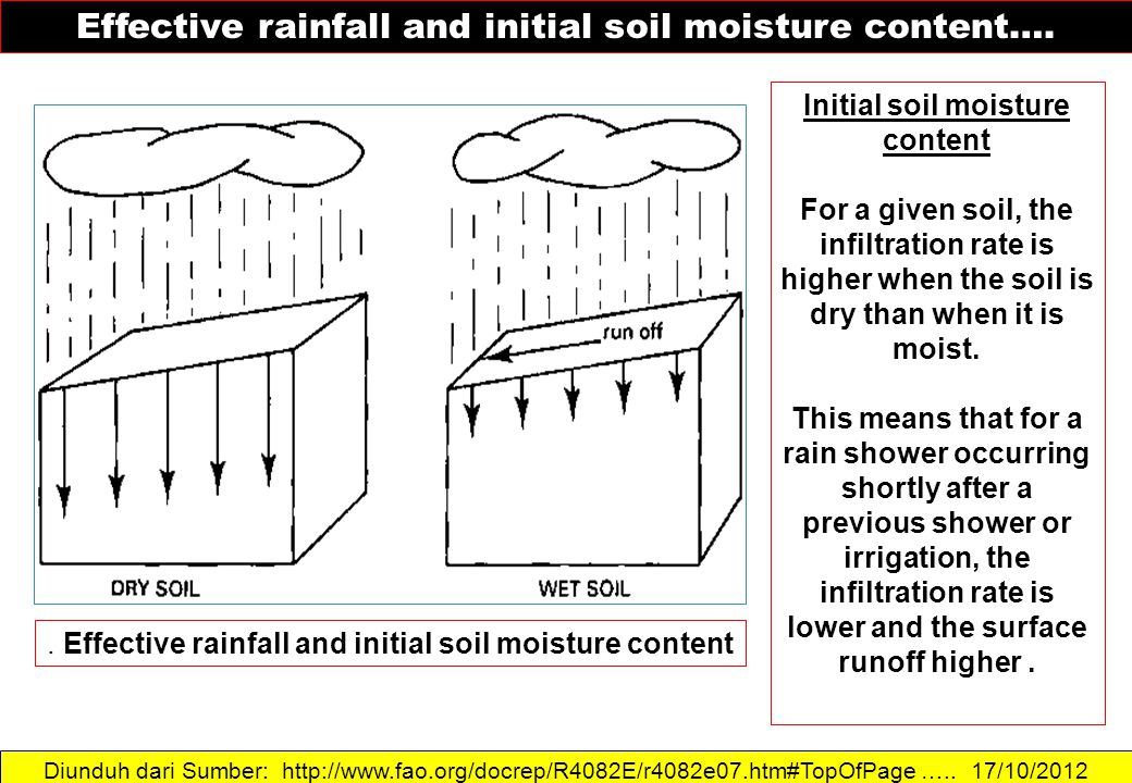 Initial soil moisture content