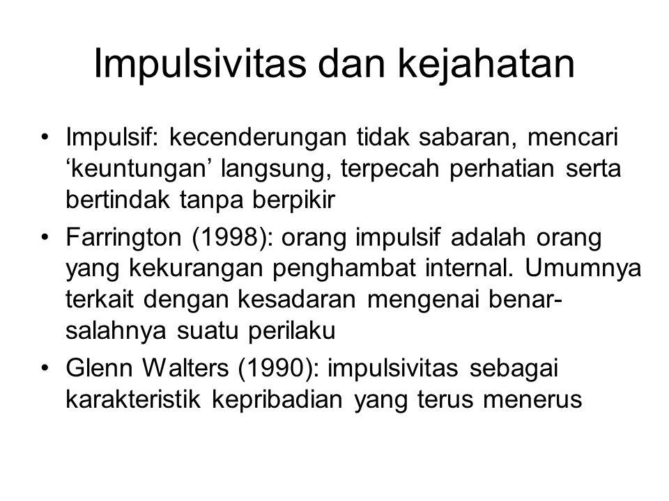 Impulsivitas dan kejahatan