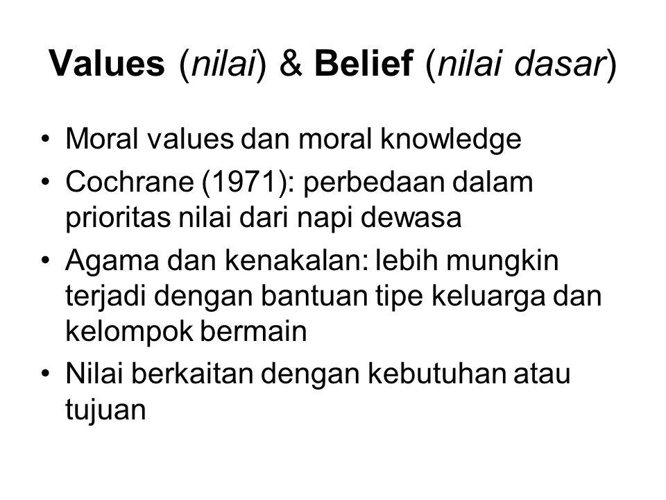 Values (nilai) & Belief (nilai dasar)