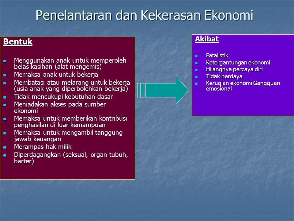 Penelantaran dan Kekerasan Ekonomi