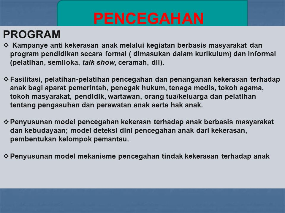 PENCEGAHAN PROGRAM.