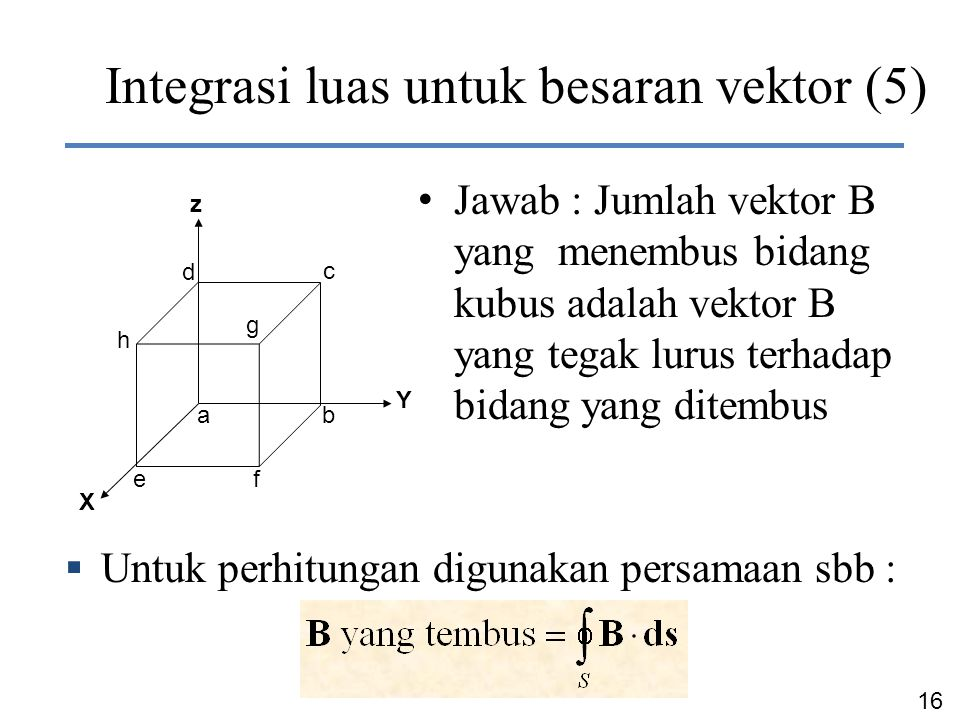 Integrasi luas untuk besaran vektor (5)