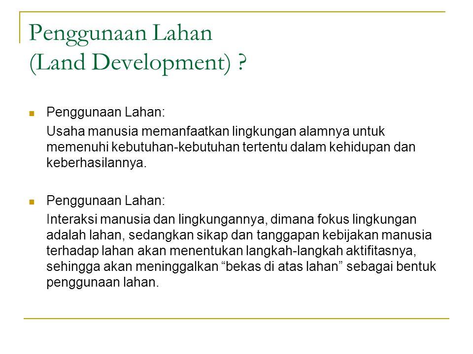 Penggunaan Lahan (Land Development)