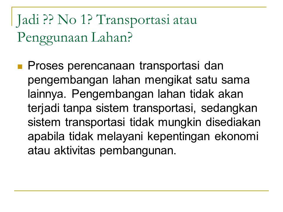 Jadi No 1 Transportasi atau Penggunaan Lahan