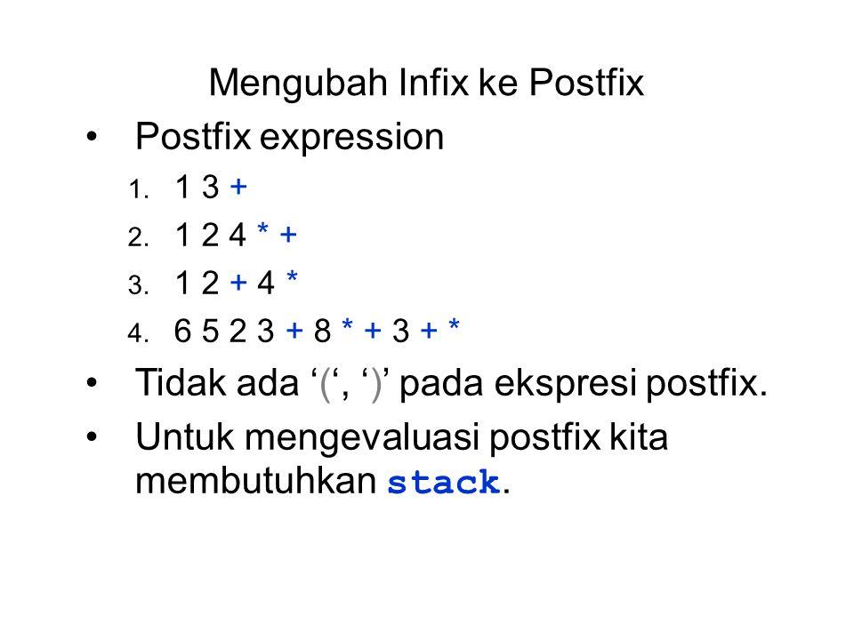 Mengubah Infix ke Postfix