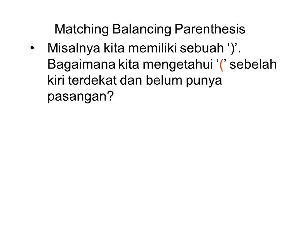 paranthesis matching