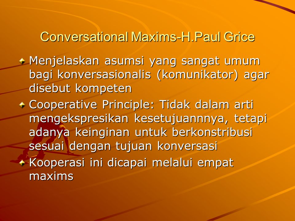 Conversational Maxims-H.Paul Grice