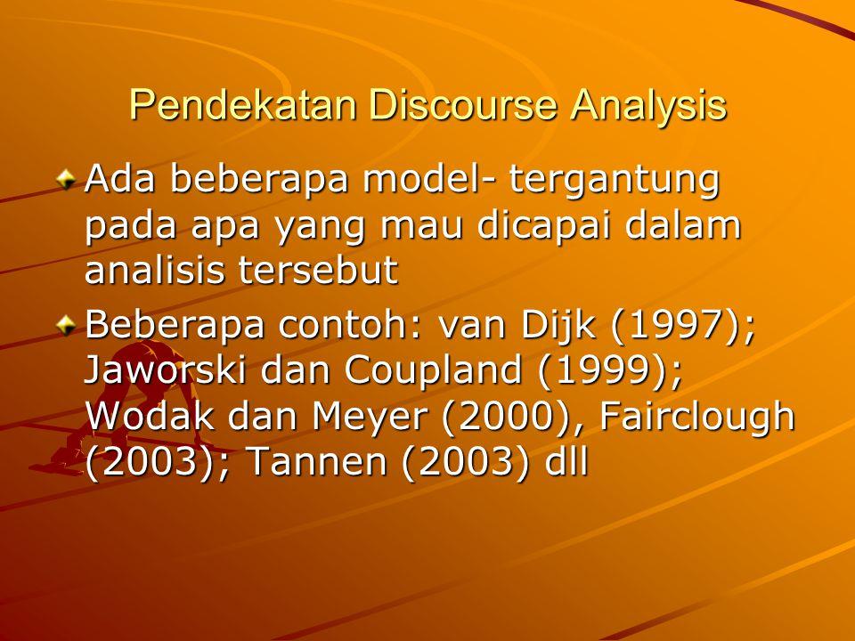 Pendekatan Discourse Analysis