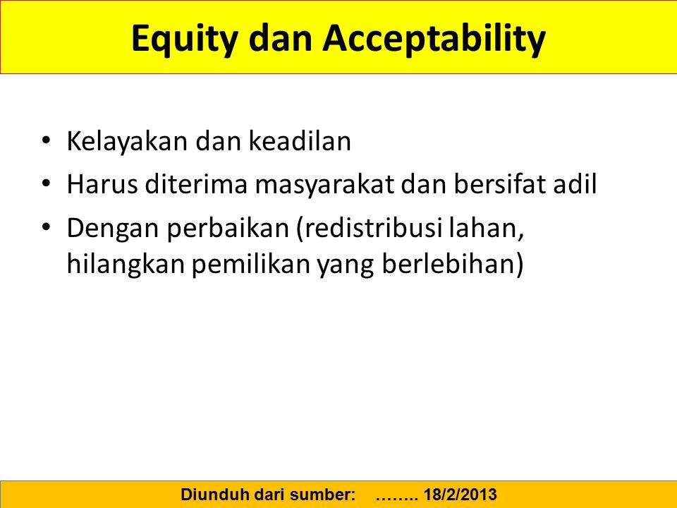 Equity dan Acceptability