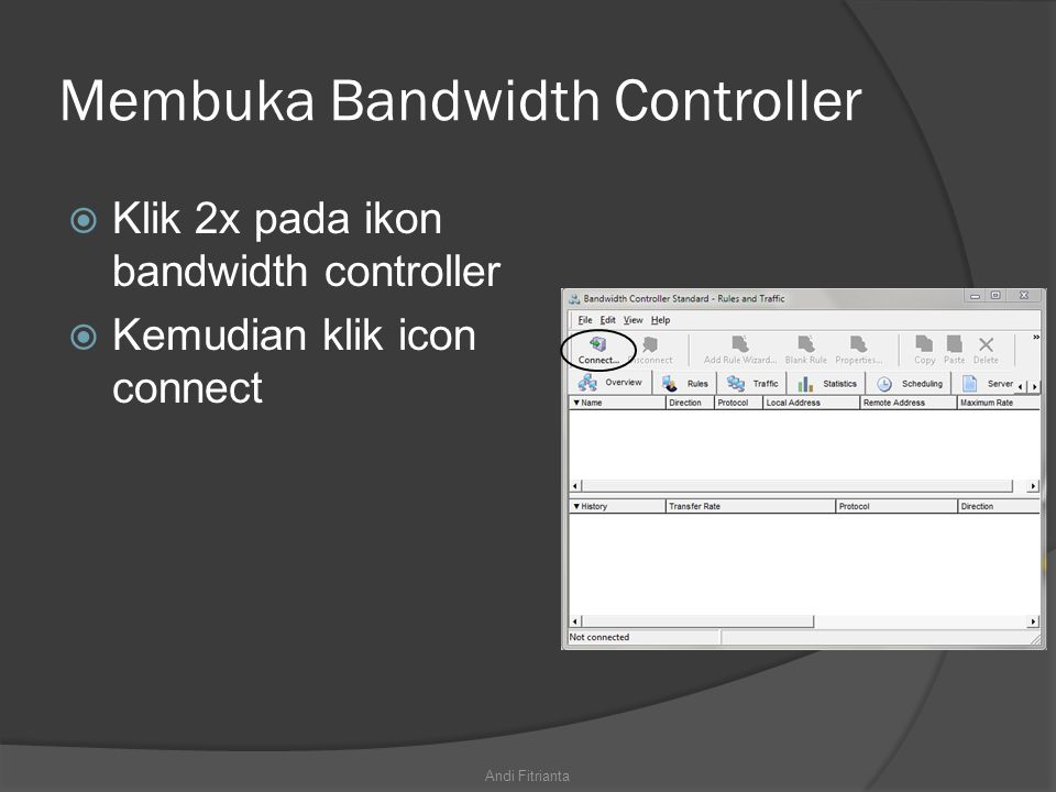 Membuka Bandwidth Controller