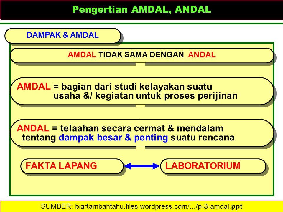 Pengertian AMDAL, ANDAL