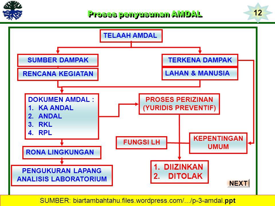 Proses penyusunan AMDAL