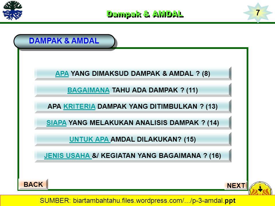 7 Dampak & AMDAL DAMPAK & AMDAL APA YANG DIMAKSUD DAMPAK & AMDAL (8)