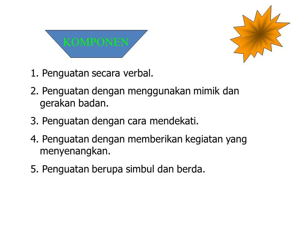 KOMPONEN 1. Penguatan secara verbal.