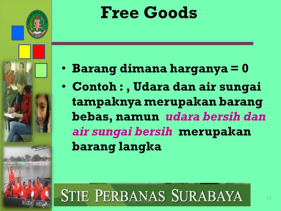 Free Goods Barang dimana harganya = 0