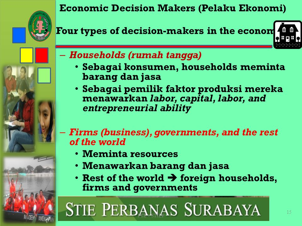 Economic Decision Makers (Pelaku Ekonomi)