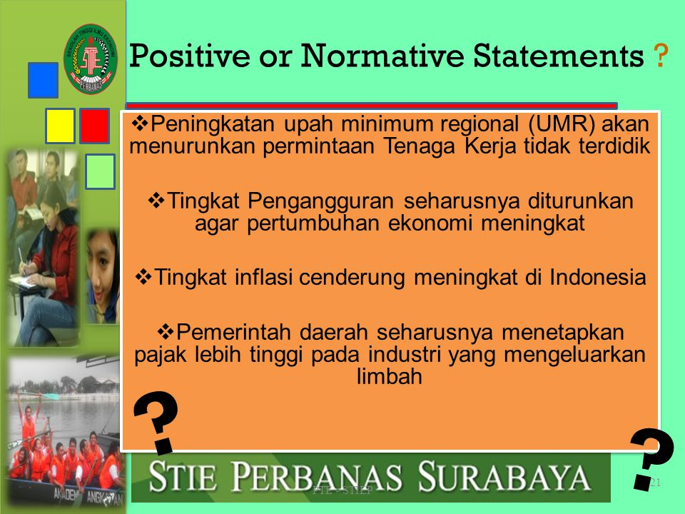 Positive or Normative Statements