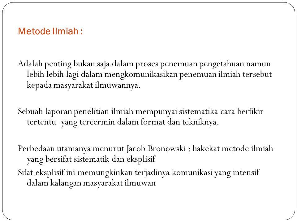 Metode Ilmiah :
