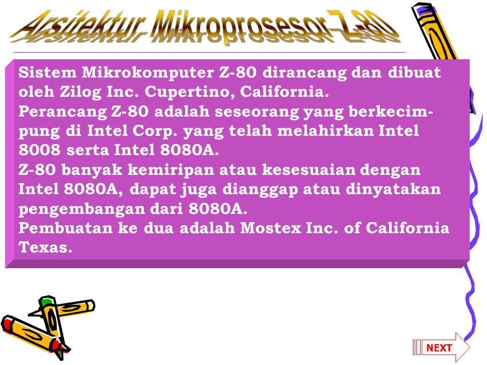 Arsitektur Mikroprosesor Z-80