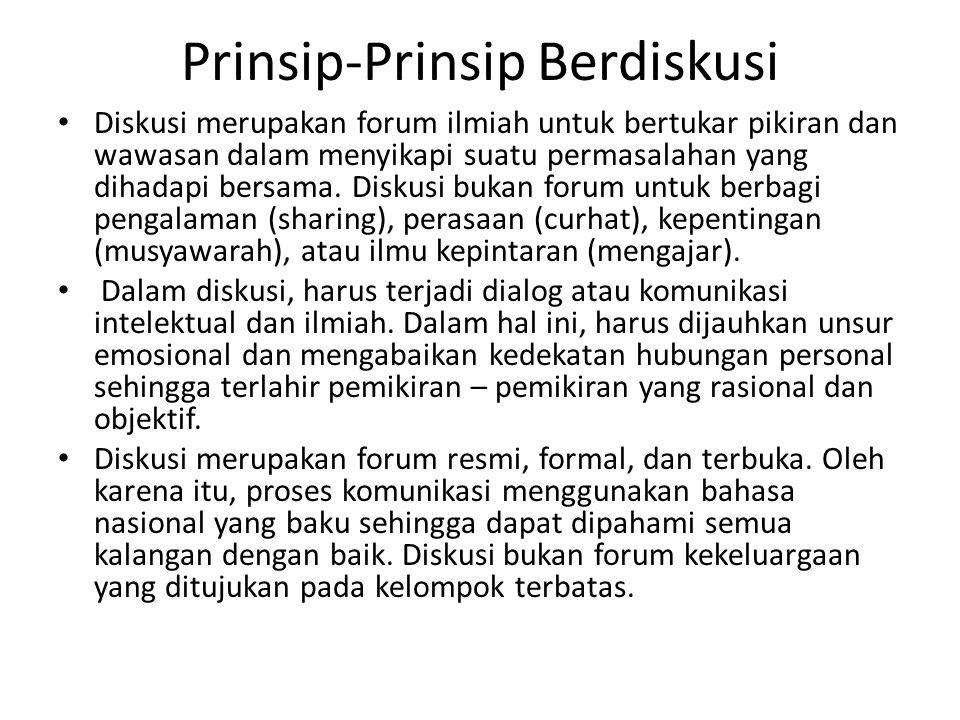 Prinsip-Prinsip Berdiskusi