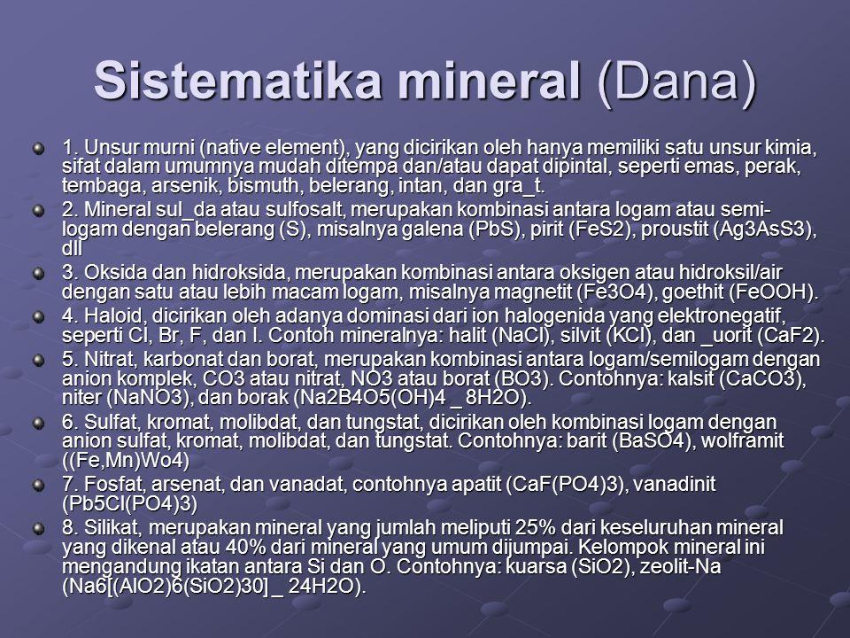 Sistematika mineral (Dana)