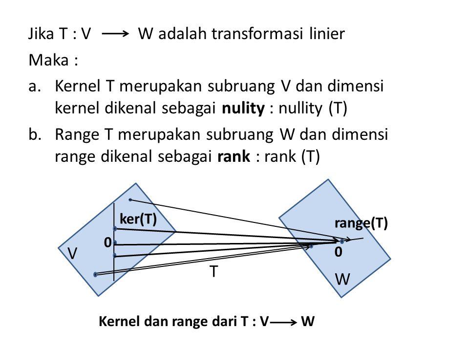 W adalah transformasi linier