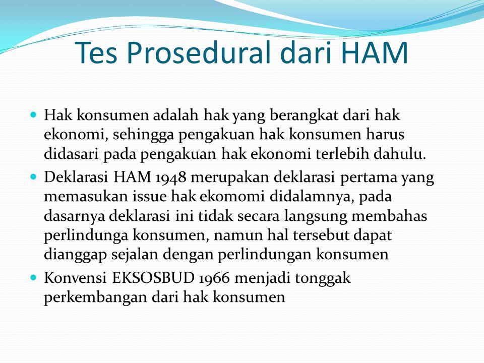Tes Prosedural dari HAM