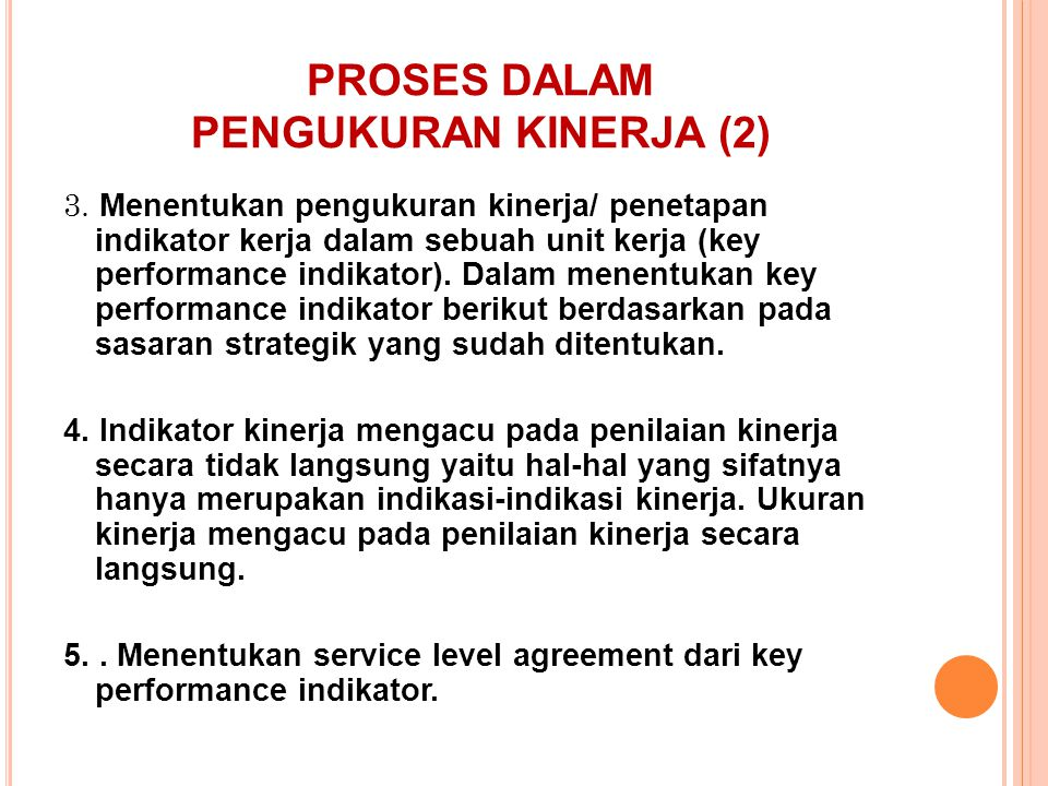 PROSES DALAM PENGUKURAN KINERJA (2)