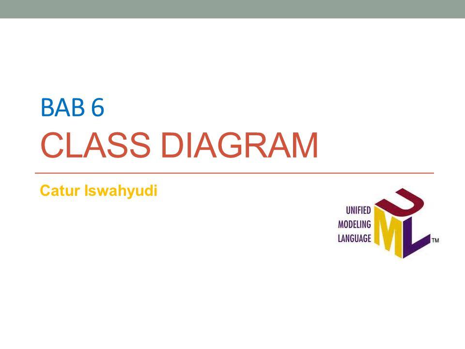 Bab 6 class diagram Catur Iswahyudi