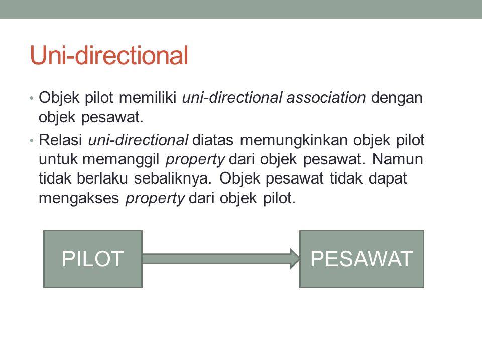 Uni-directional PILOT PESAWAT
