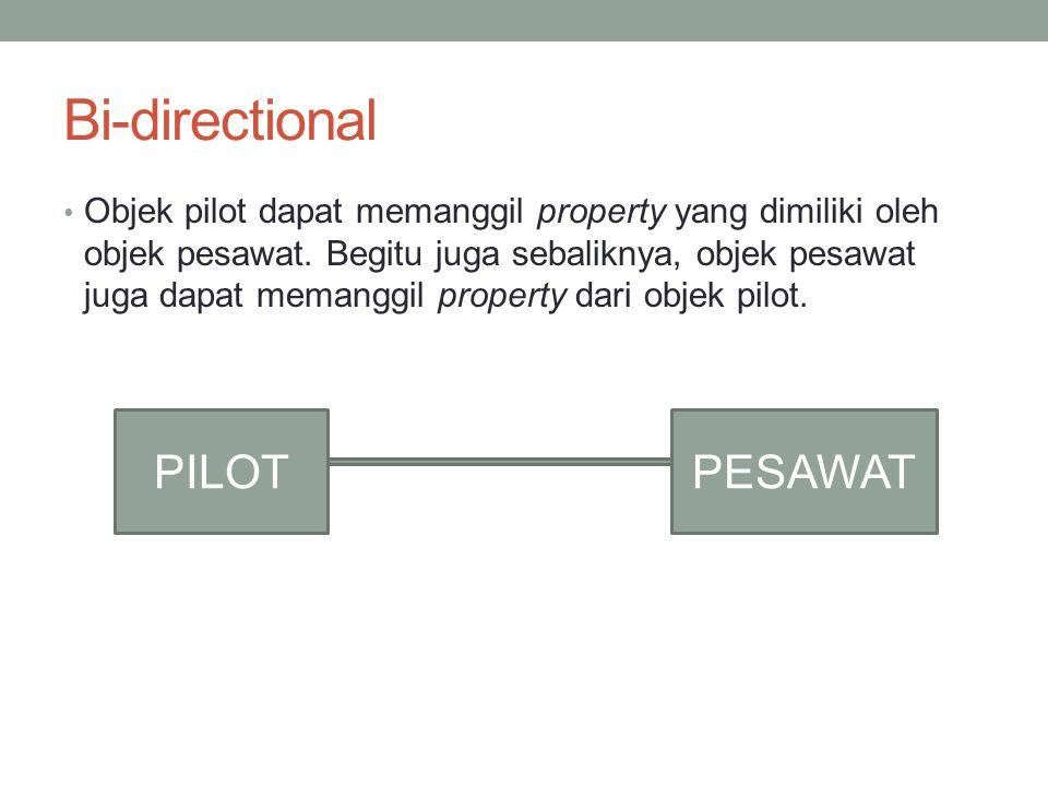 Bi-directional PILOT PESAWAT