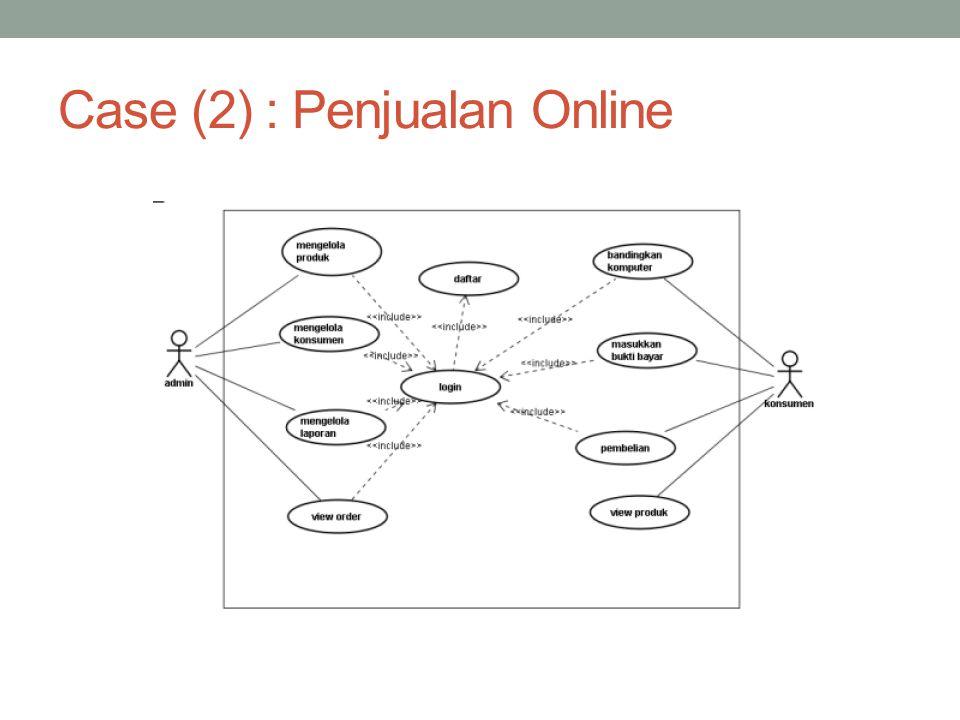 Case (2) : Penjualan Online