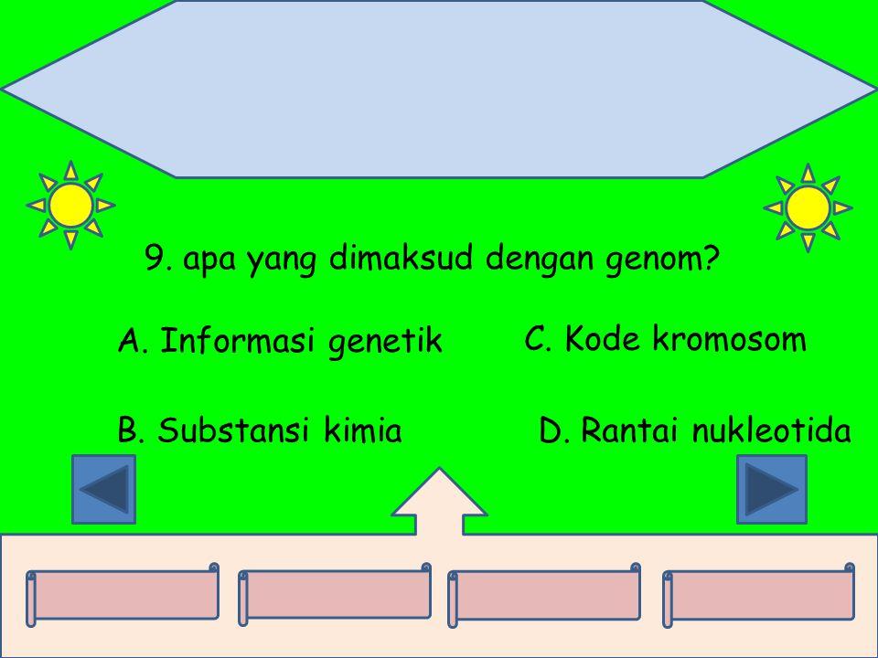 9. apa yang dimaksud dengan genom