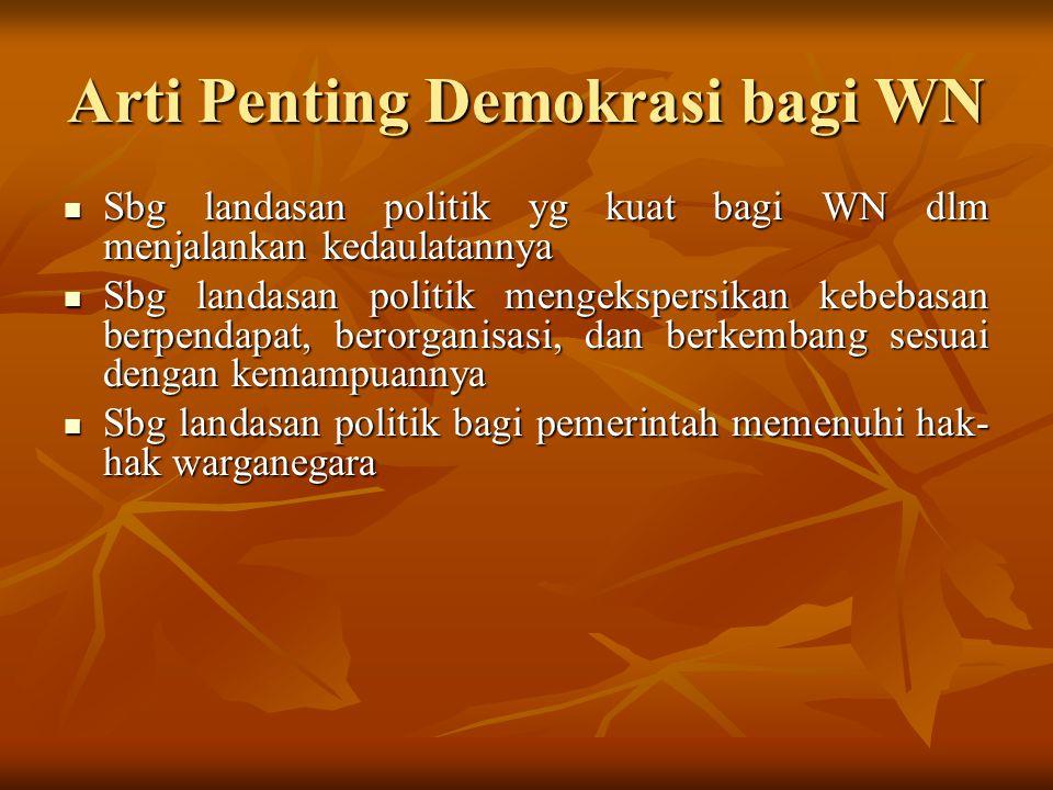 Arti Penting Demokrasi bagi WN