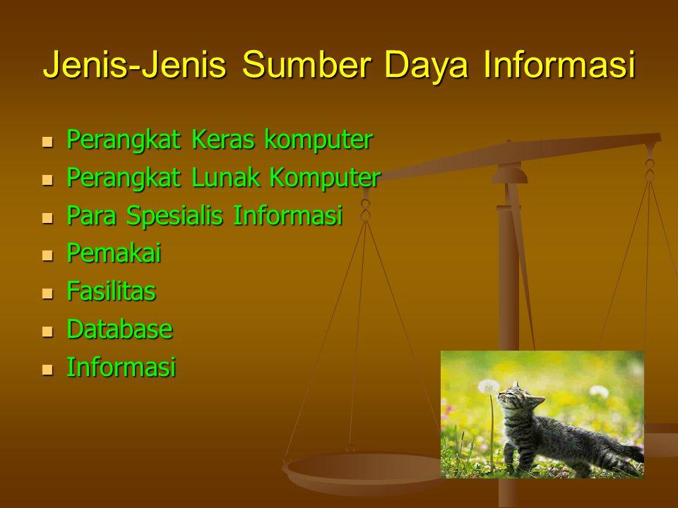 Jenis-Jenis Sumber Daya Informasi