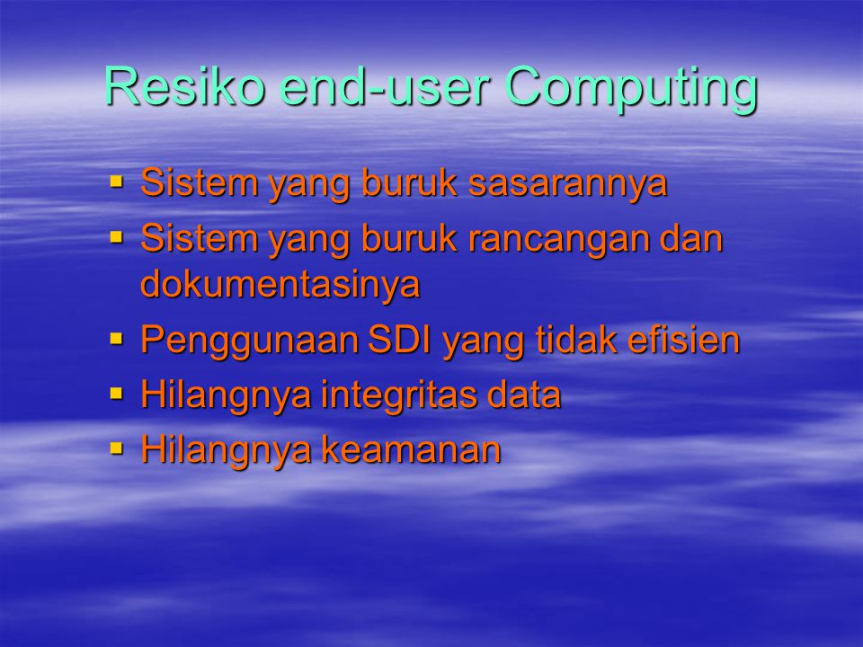 Resiko end-user Computing