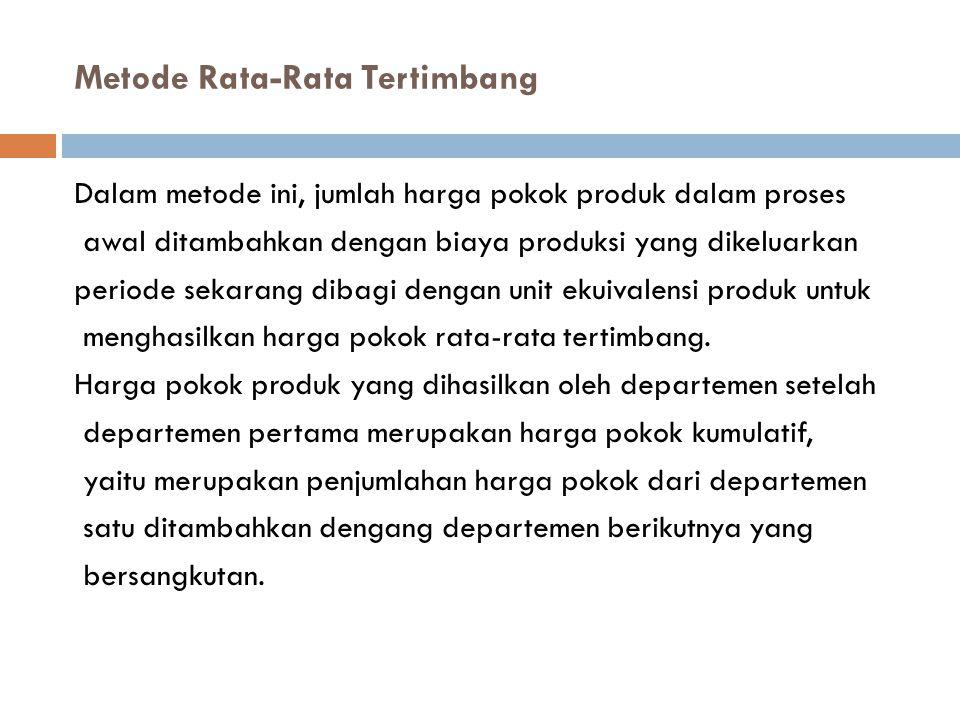 Metode Rata-Rata Tertimbang